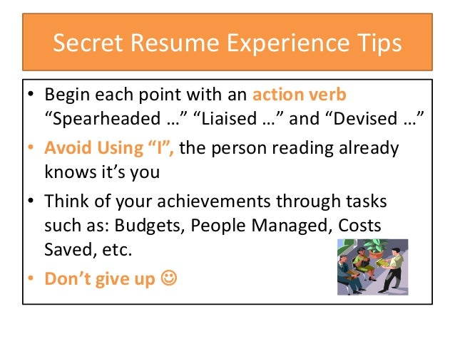 experience bullet point 6 secret resume
