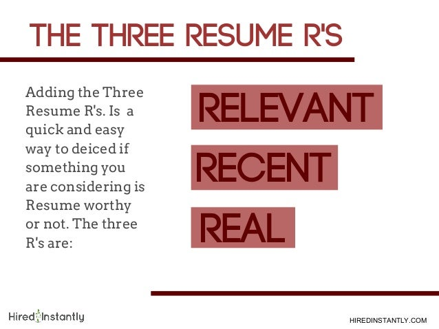 COM; 4. Adding The Three Resume ...