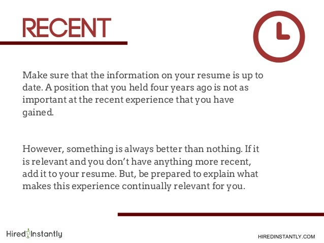 com 6 make sure that the information on your resume