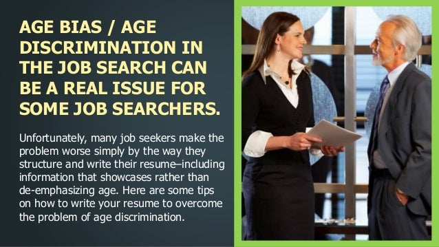 how to write your resume to overcome age bias
