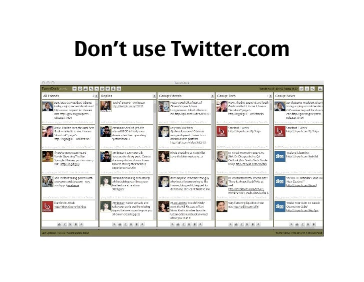 For every pain you face,   There is a twitter app!      Otherwise, create it!