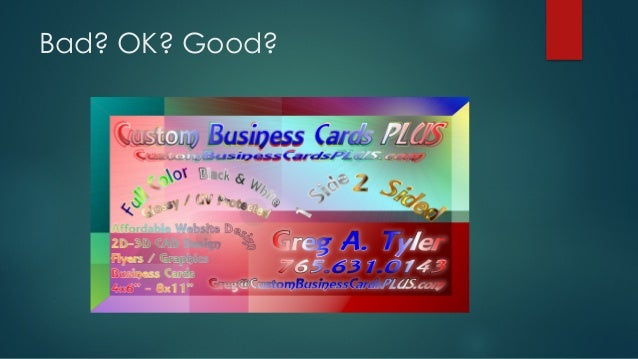How to use business cards ok good colourmoves