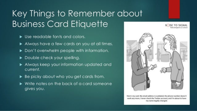 How to use business cards 19 key things to remember about business card colourmoves