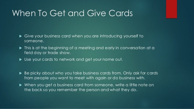 How to use business cards when where to use business cards 3 colourmoves Gallery