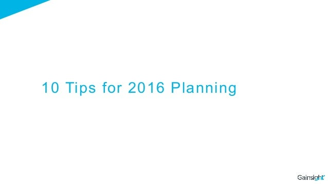 10 Tips for 2016 Planning