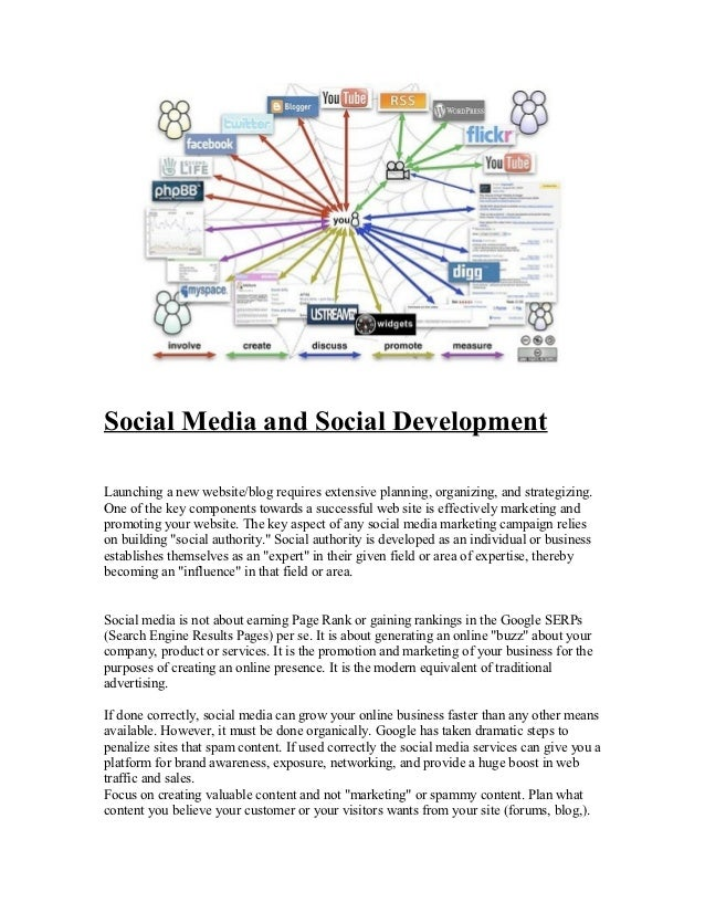 Social Media and Social DevelopmentLaunching a new website/blog requires extensive planning, organizing, and strategizing....