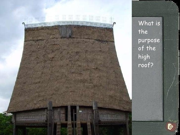 <ul><li>What is the purpose of the high roof? </li></ul>