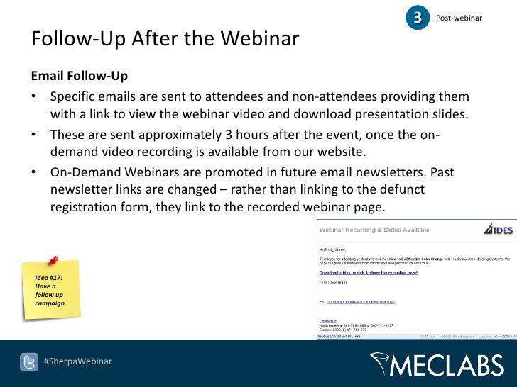 21 ideas for webinar marketing, Presentation templates