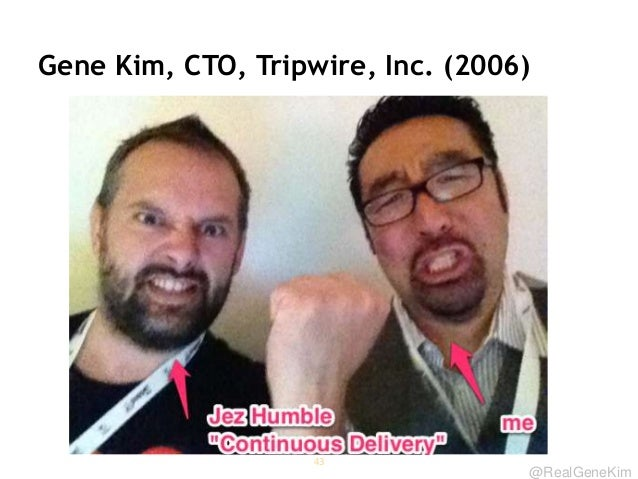 @RealGeneKim Gene Kim, CTO, Tripwire, Inc. (2006) 43