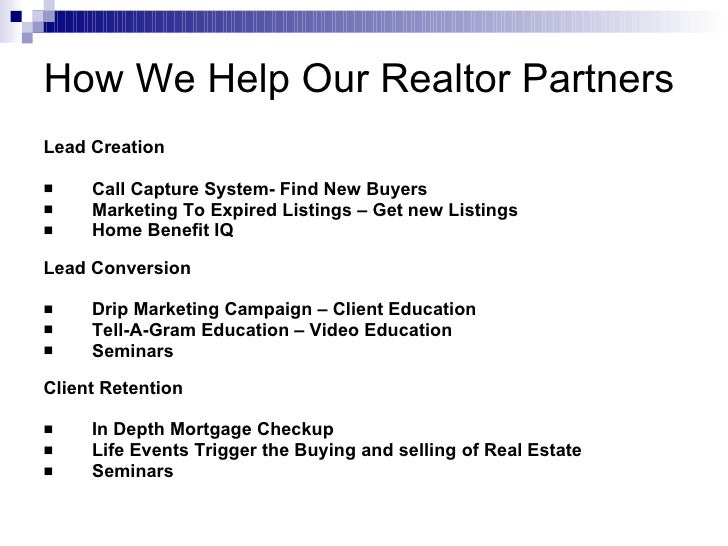 How We Help Our Realtor Partners Slide 2