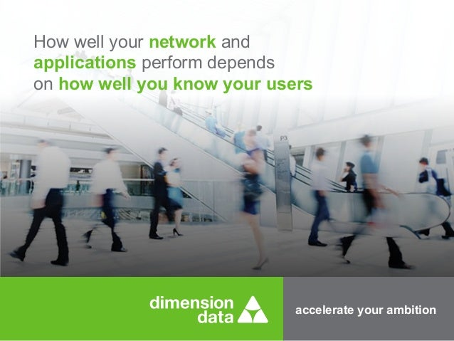 accelerate your ambition How well your network and applications perform depends on how well you know your users