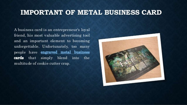 How we make our metal business card more attractive 2 important of metal business card reheart Images
