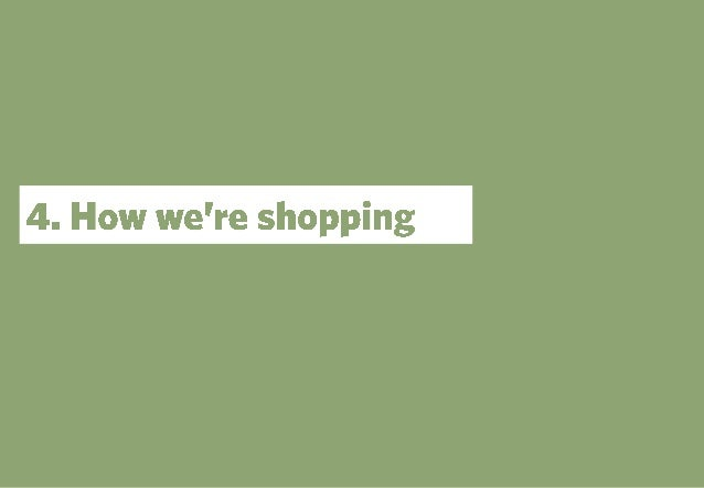 The future of retail. Part 1: the demand picture. How we're shopping