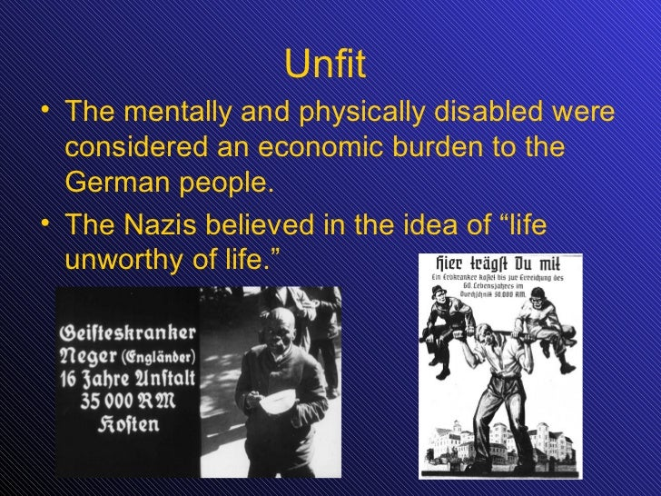 euthanasia in nazi germany Video about the euthanasia program in nazi germany project by allie judge, brigette schuman, kelly taylor, alexis mathers, and alee campbell.