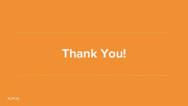 #DPL15 Thank You!