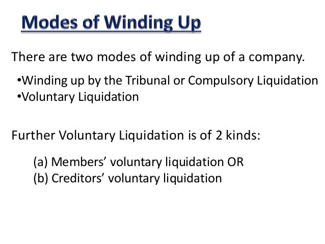 winding up for company A comprehensive introduction on the rules of winding up under irish company law as set out under the companies act 2014.