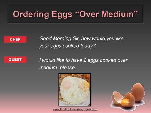 English Training - Different ways to cook eggs