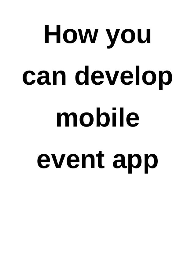how to develop and app