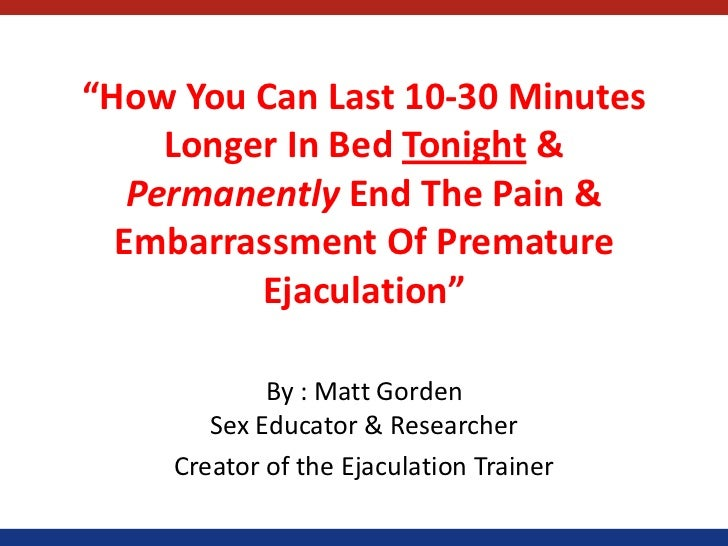 How To Avoid Premature Ejaculation Pdf