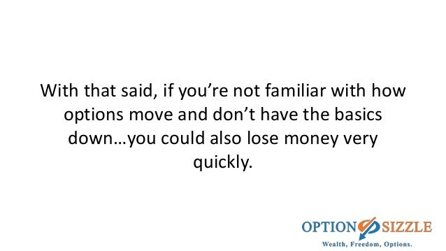 How do you lose money trading options