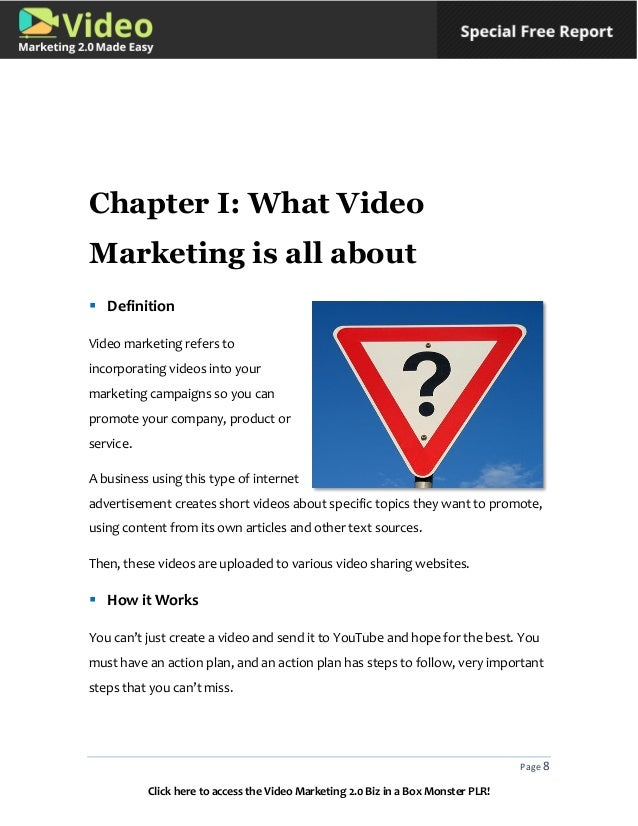 Video marketing plr articles on dating 8