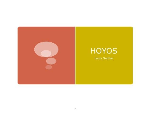 HOYOS Louis Sachar  1