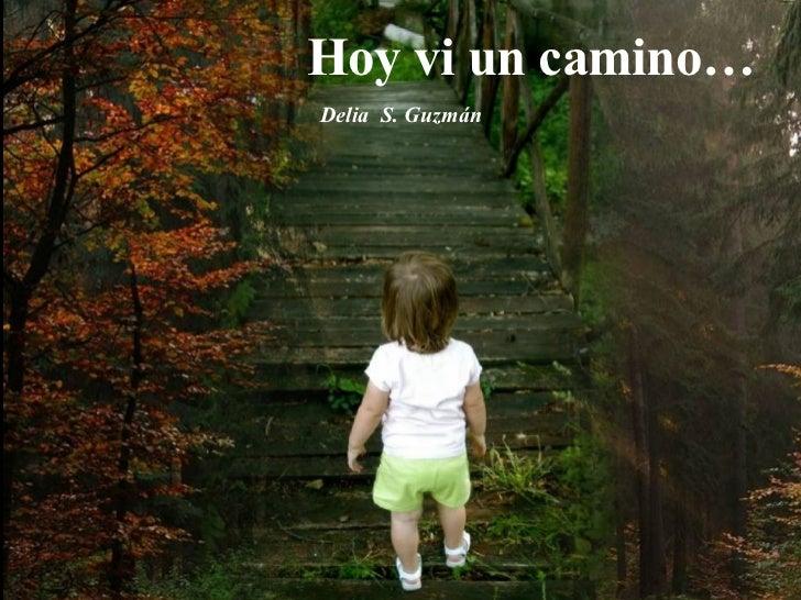 Hoy vi un camino… Delia  S. Guzmán