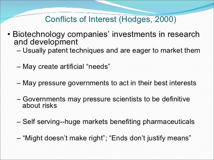 The Challenges of Ethics Consulting in the Biotechnology Industry: Codes of Ethics