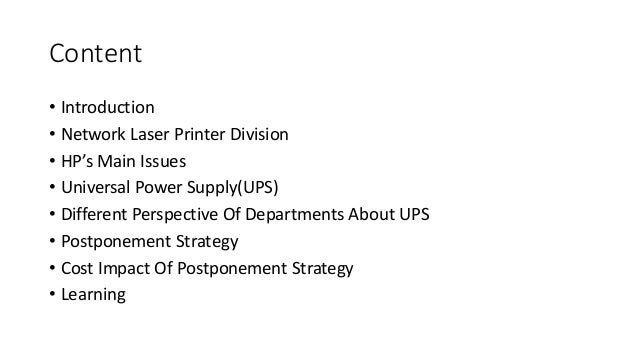 hewlett packard company network printer design for Hewlett-packard company: network printer design for universality presented by: waqas iqbal & cao zhichao the hewlett-packard company • hp was one of the silicon valley's legends.