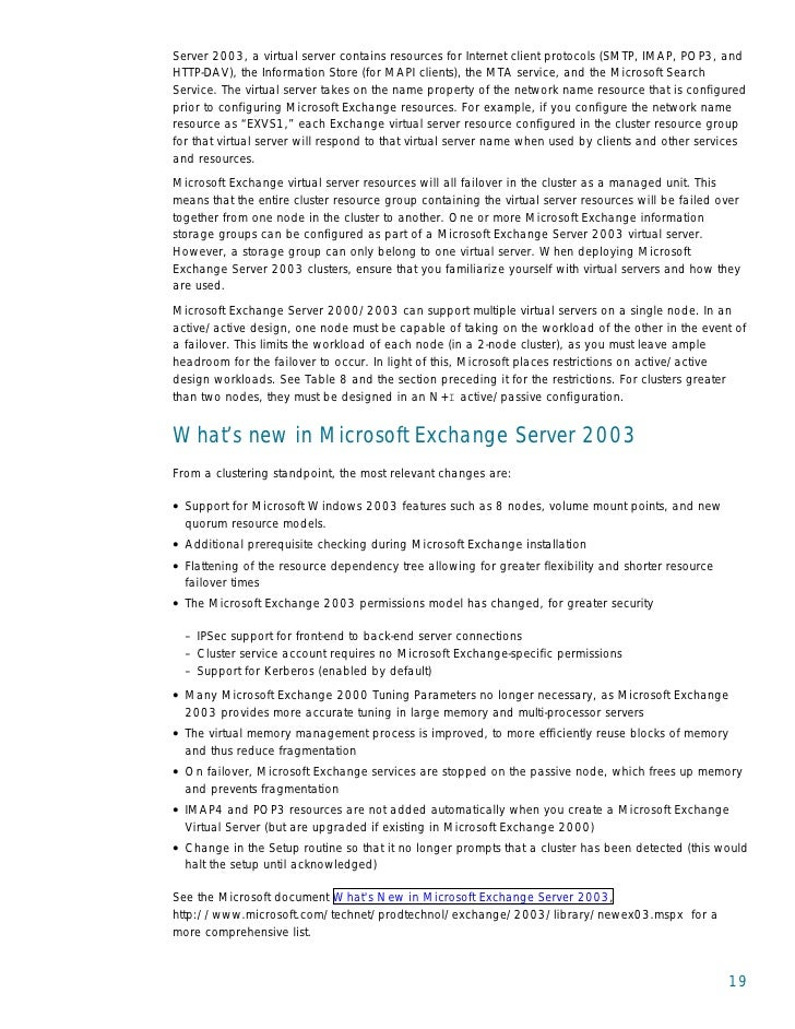 Hp Best Practices For Microsoft Exchange Server 2000 And