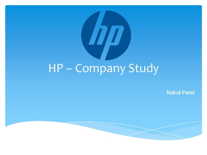 a study of the company hewlett packard
