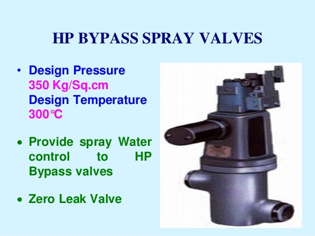 Hp/ lp bypass system for steam turbines