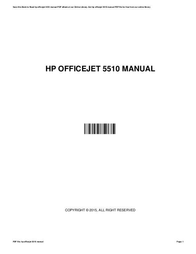 hp officejet 5510 manual rh slideshare net HP Officejet 5605 HP Officejet 5510 All in One