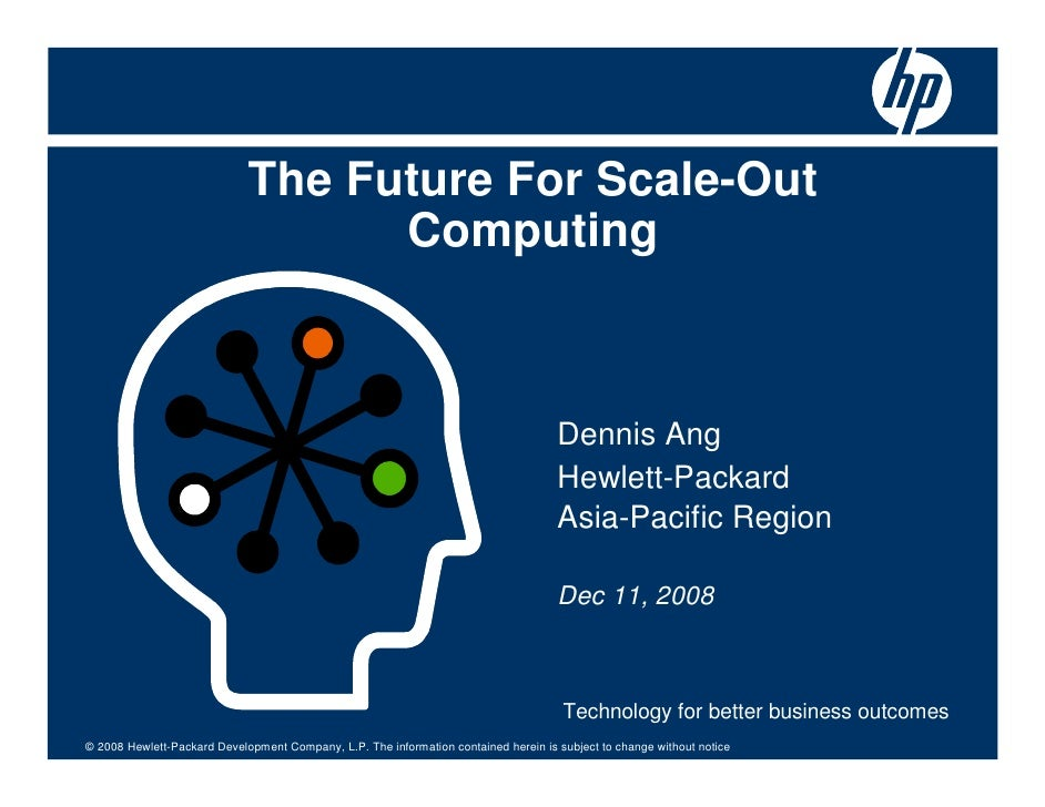 The Future For Scale-Out                                    Computing                                                     ...