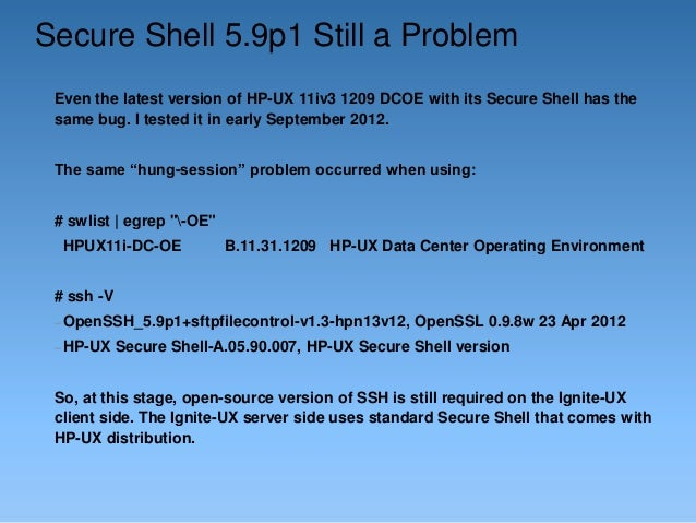 HP-UX 11iv3 Ignite-UX with NFSv4 and SSH Tunnel by Dusan