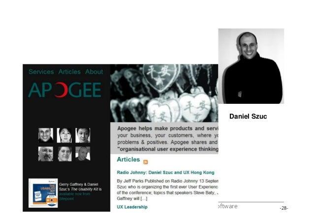 -28-UserXper Web User Experience – Planning / Training / Software Daniel Szuc