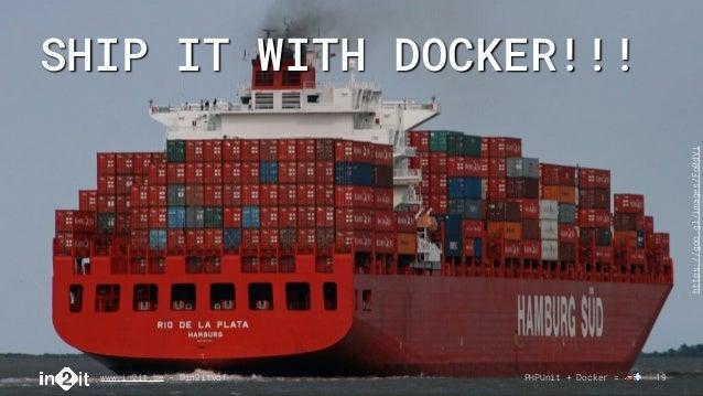 SHIP IT WITH DOCKER!!! www.in2it.be - @in2itvof PHPUnit + Docker = 🚗💨 19 https://goo.gl/images/Fo0dVi