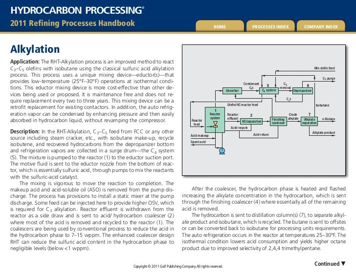 HYDROCARBON PROCESSING                                       ®2011 refining Processes Handbook                            ...