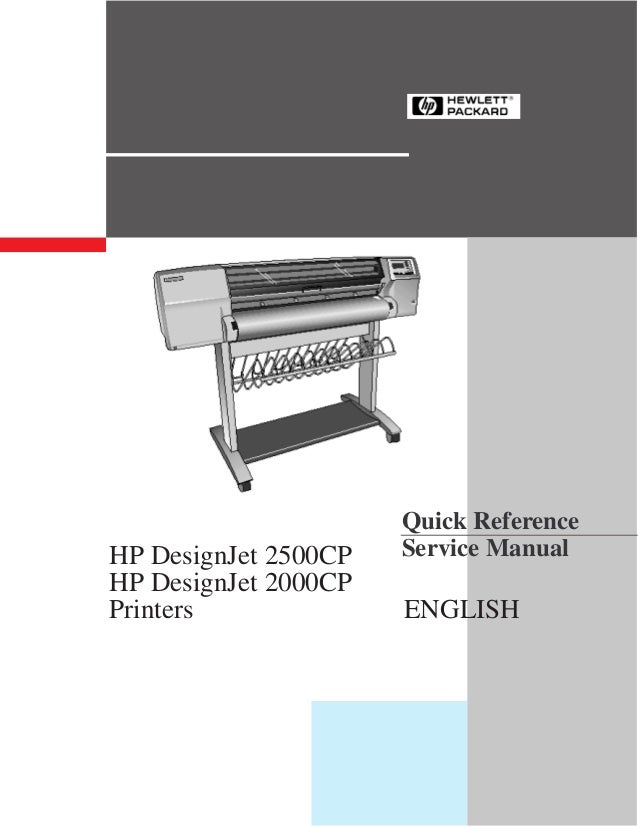 Quick ReferenceHP DesignJet 2500CP   Service ManualHP DesignJet 2000CPPrinters              ENGLISH