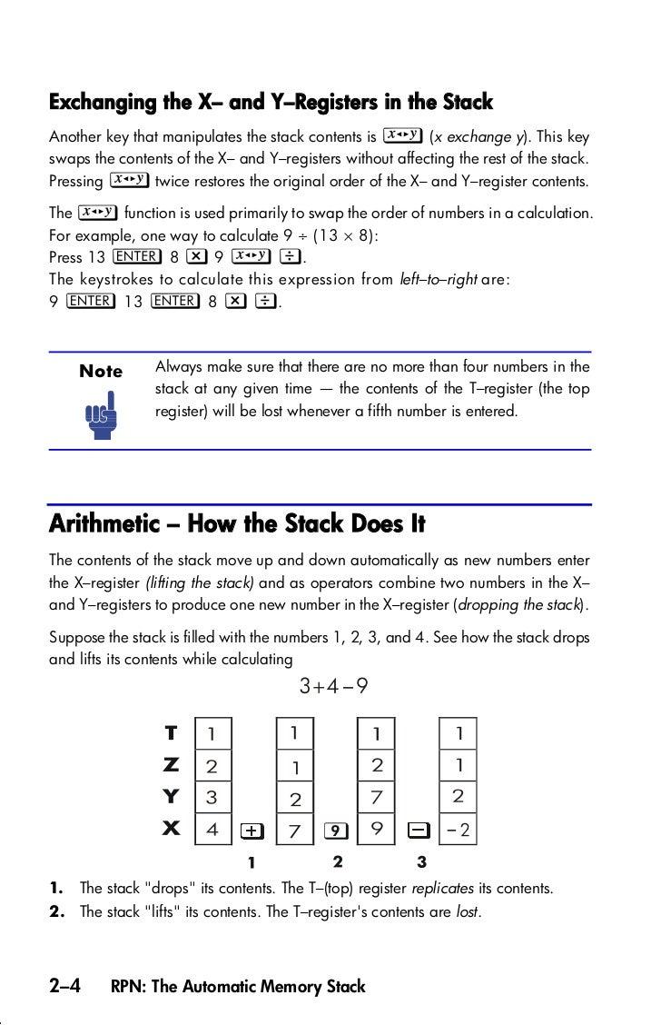 Calculate Standard Deviations Hp33s Calculator User_guide