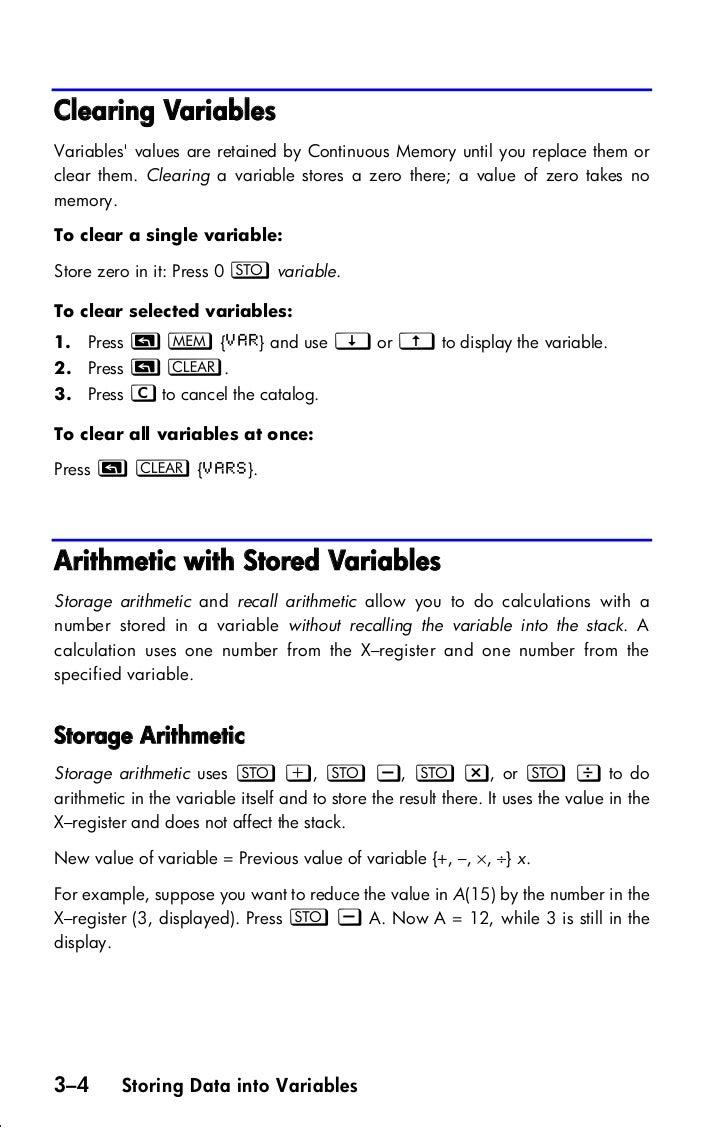 Hp33s Calculator User_guide
