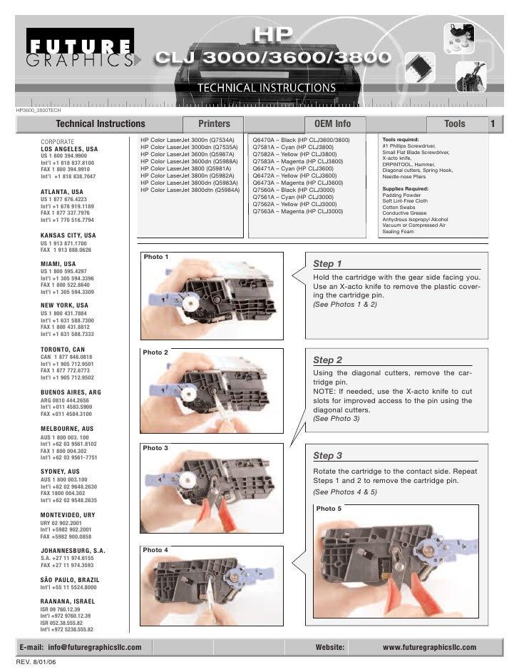 HP3600_3800TECH                 Technical Instructions                        Printers                                 OEM...