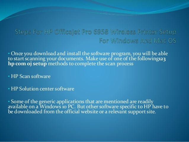 HP Printer Setup Wireless Windows and Mac OS