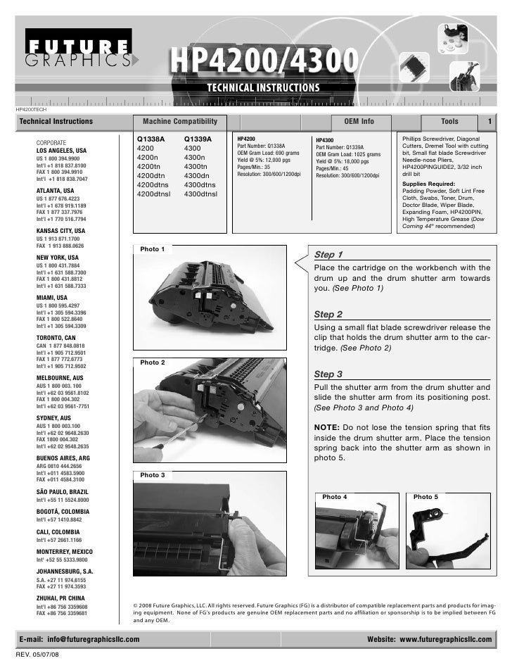 HP4200TECH   Technical Instructions               Machine Compatibility                                                   ...