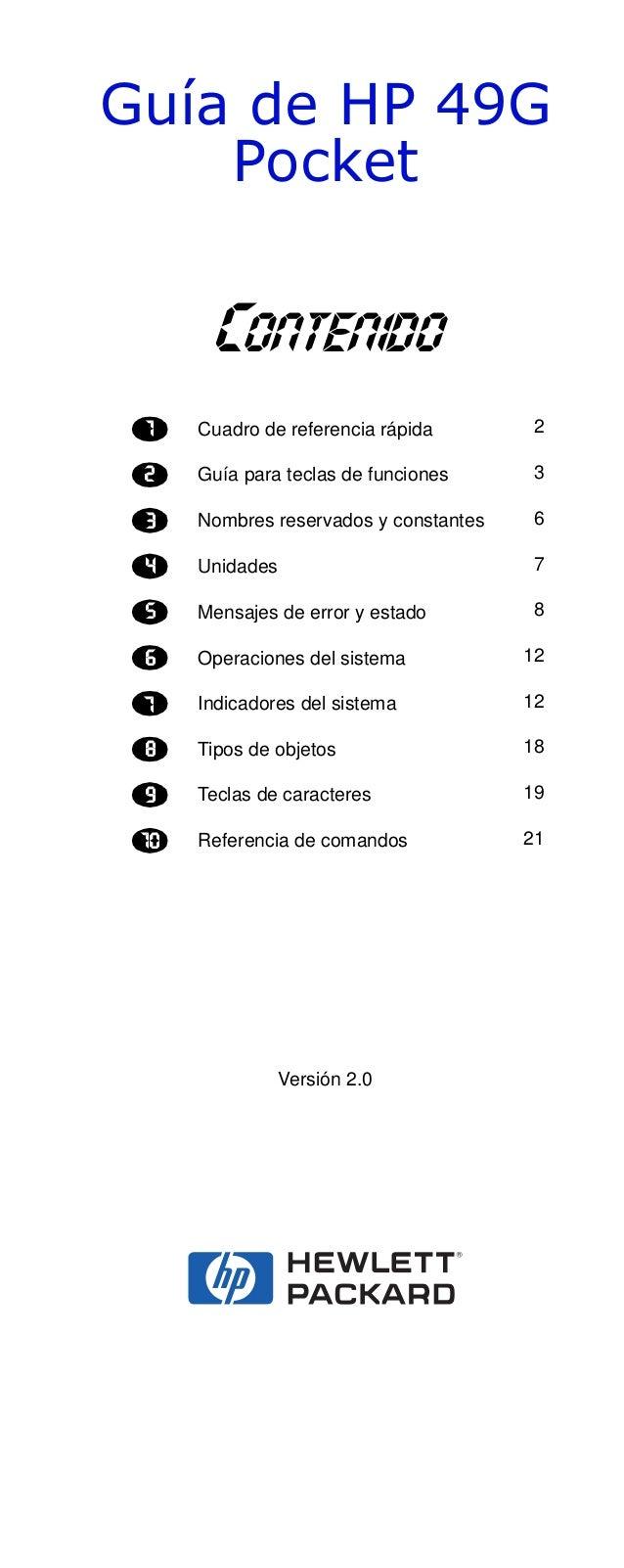 *XtD GH +3 *    3RFNHW       #KJPAJE@K     Cuadro de referencia rápida        2     Guía para teclas de funciones      3  ...