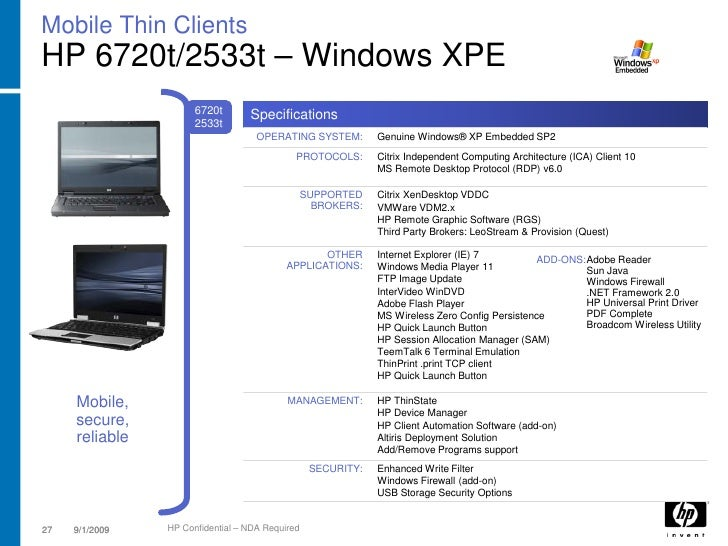 HP Microsoft XPe Add-On MS 963027 Driver for Windows 7