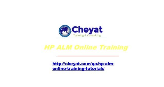 HP ALM Online training by Cheyat Technologies