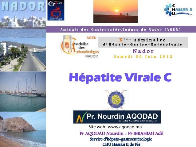 Amicale des Gastroentérologues de Nador (AGEN)                                                         X   ème   séminaire...