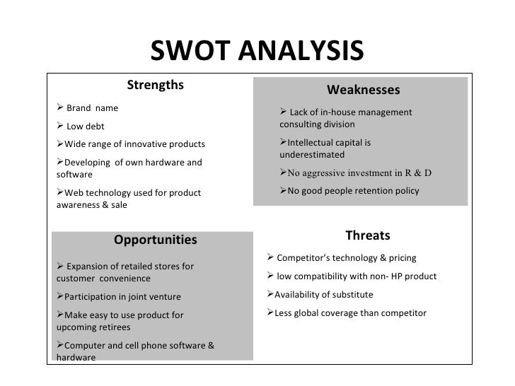 Hp swot matrix