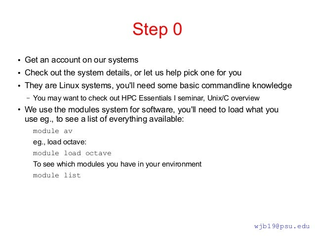 HPC Essentials 0 Slide 3